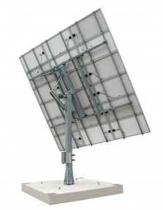 Solar Tracker SM40M3V15P with backstructure for 15 panels (3,75 kWp)