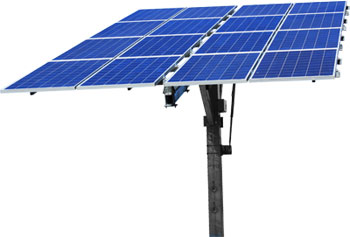 Using a solar tracker to make photovoltaic panels more efficient